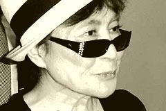 84-Jähriger Yoko Ono