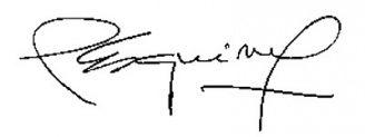 Unterschrift Adolfo Pérez Esquivel