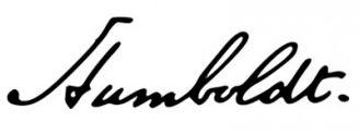 Unterschrift Alexander von Humboldt