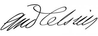 Unterschrift Anders Celsius