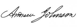 Unterschrift Andrew Johnson
