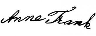 Unterschrift Anne Frank