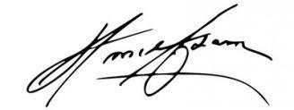 Unterschrift Ansel Adams