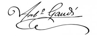 Unterschrift Antoni Gaudí