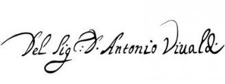 Unterschrift Antonio Vivaldi