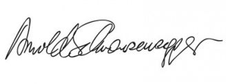 Unterschrift Arnold Schwarzenegger