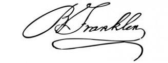 Unterschrift Benjamin Franklin