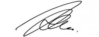 Unterschrift Bill Kaulitz