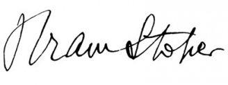 Unterschrift Bram Stoker