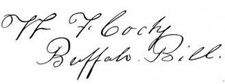 Unterschrift Buffalo Bill