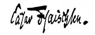 Unterschrift Cäsar Flaischlen
