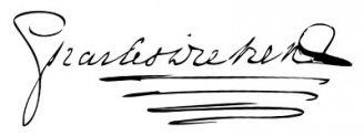 Unterschrift Charles Dickens