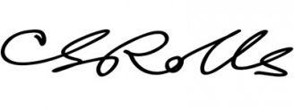Unterschrift Charles Rolls