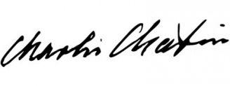 Unterschrift Charlie Chaplin