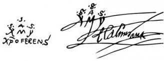 Unterschrift Christoph Kolumbus