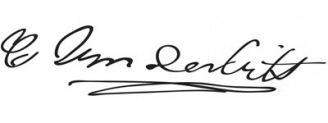 Unterschrift Cornelius Vanderbilt