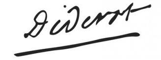 Unterschrift Denis Diderot