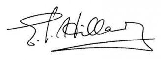 Unterschrift Edmund Hillary