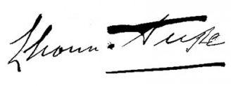 Unterschrift Eleonora Duse