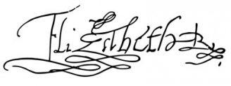 Unterschrift Elisabeth I.