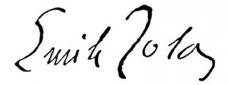 Unterschrift Émile Zola