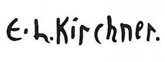 Unterschrift Ernst Ludwig Kirchner