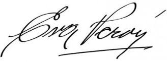 Unterschrift Eva Perón