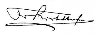 Unterschrift Ferdinand von Richthofen