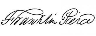 Unterschrift Franklin Pierce