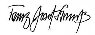 Unterschrift Franz Josef Strauß
