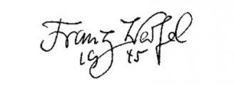 Unterschrift Franz Werfel