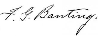 Unterschrift Frederick Banting