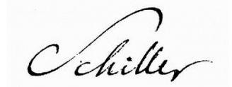Unterschrift Friedrich Schiller