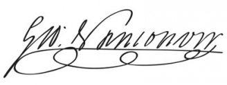 Unterschrift George Vancouver