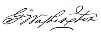 Unterschrift George Washington