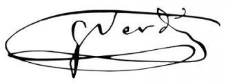 Unterschrift Giuseppe Verdi