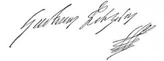 Unterschrift Gustav II. Adolf