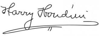 Unterschrift Harry Houdini
