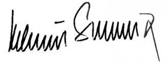 Unterschrift Helmut Schmidt