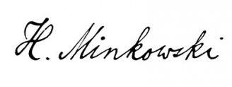 Unterschrift Hermann Minkowski