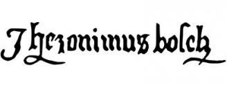 Unterschrift Hieronymus Bosch