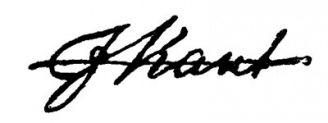 Unterschrift Immanuel Kant