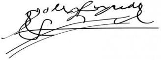 Unterschrift Isabella I.