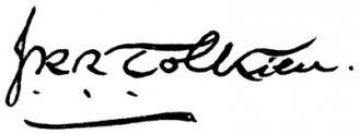 Unterschrift J. R. R. Tolkien
