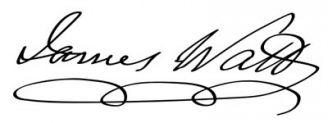 Unterschrift James Watt