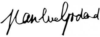 Unterschrift Jean-Luc Godard