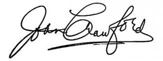 Unterschrift Joan Crawford