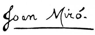 Unterschrift Joan Miró