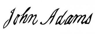 Unterschrift John Adams