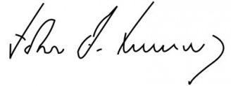 Unterschrift John F. Kennedy